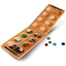 Game With Rocks And Wooden Board Amazon Mancala Stones Made in USA Toys Games 78