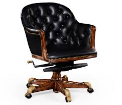 luxury office chair. Windsor Desk Chair With Buttoned Black Leather Low Back Luxury Office