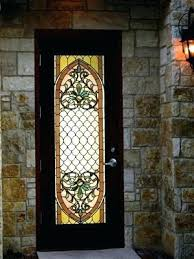 panel above front door stained glass stained
