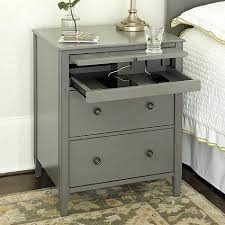 charging end table. End Table With Usb Outlet Port Great Side Charging Station Metal Drawers Bedrooms S