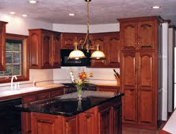 Kitchen Cherry Cabinets Kitchen Black Countertops Cherry Cabinets Cliff Kitchen