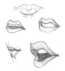 sideways open mouth drawing