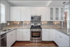 White Cabinets Backsplash White Subway Tile Backsplash With White Cabinets Tiles Home