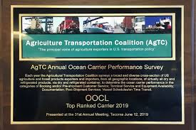 Oocl Oocl Receives The Top Ranked Carrier 2019 From Agtc