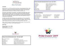 How To Create An Event Program Booklet Program Booklet Cruise 2017 100217