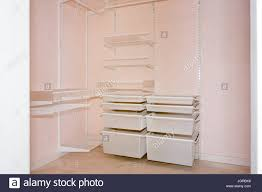 empty walk in closet.  Closet Empty Walkin Closet With Shelves Dressing Room Interior Elements And Walk In Closet