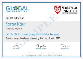 Business English Tefl 60 Hours Global Training Academy