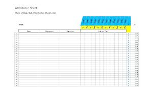 Sign In Sheet Template Microsoft Test Out The Tally By Entering In 1 For Students To Indicate