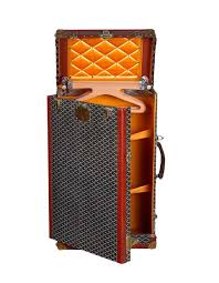 vintage luggage. a goyard archive malle penderiein, personal collection vintage luggage