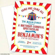 Circus Party Invitation Gorgeous Circus Party Invitations Enoma