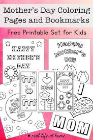 Bookmark Coloring Pages Free Mothers Day Coloring Pages And Bookmarks Printable Set