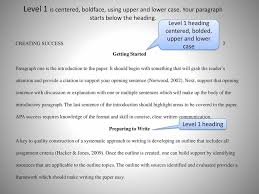 Basics Of Apa Style Information Taken From The Following Reference