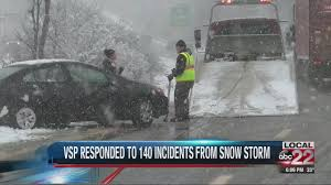 Winter Weather Keeping Vt State Police Busy With Road Incidents