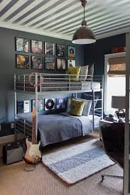 Suzie: Sally Wheat Interiors - Fun boy's bedroom with white & silver  metallic striped ceiling, . Love the striped ceiling!