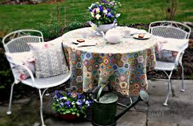 patio furniture white. Inspirations White Aluminum Patio Furniture And Tea In My Spring Garden Spray Painted Metal