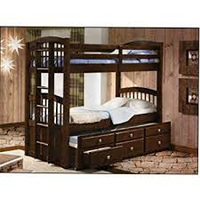 bunk bed with trundle and drawers.  And TwinTwin Captains Bunk Bed With Trundle And Storage Drawers  Cappuccino  Finish To With And O