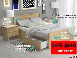 Queen Bedroom Suites Dandenong Bedroom Suites Queen Storage B2c Furniture