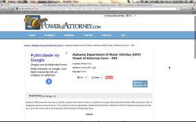 free alabama dmv power of attorney