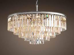 1920s odeon clear glass fringe 5 tier chandelier lamps from chandeliers restoration hardware
