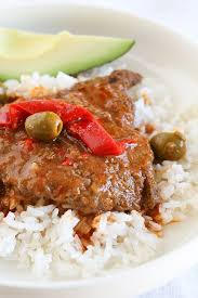 cubed steak with peppers and olives recipe