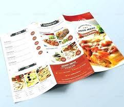 Take Out Menu Template Take Out Menu Template Fold Free Restaurant 2 Templates