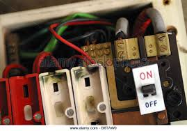 fuse box house stock photos fuse box house stock images alamy consumer unit box electrical fuse box old wire fuse type in a 1970 s house stock