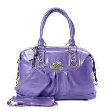 Coach Madison In Smooth Medium Purple Satchels BLW
