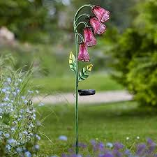 amazing garden lighting flower. Smart Solar Glass Foxglove Flower Stake Light | Garden Lighting Webbs Centre Amazing
