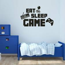 Art Stickers Gamer <b>EAT SLEEP GAME</b> Bedroom Letter Quotes ...