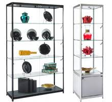 Standing Watch Display Case Display Cases Acrylic Metal Glass Counters Cabinets 17