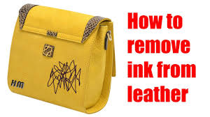 how to remove ink from leather