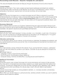 Accounting Clerk Resume Sample Accounting Clerk Resume Inspirational
