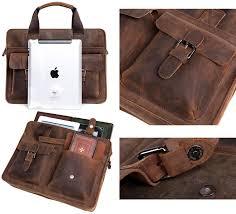... Handmade Vintage Leather Briefcase / Leather Messenger Bag / Leather  Satchel / 11