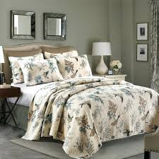 bedding king set washed cotton quilt set birds printed quilts quilted bedspread bed cover shams bedding bedding king set