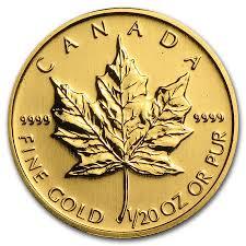 Canada 1 20 Oz Gold Maple Leaf Random Year