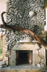 river rock wall art