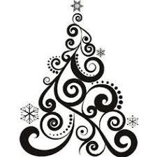 christmas ornament clipart black and white. Art Deco Christmas Black And White Google Search Throughout Ornament Clipart