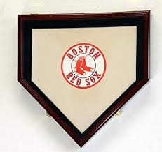 Size Of Home Plate Amazon Com Full Size Baseball Home Plate Base Display Case Cabinet