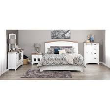 Pueblo White King Bed