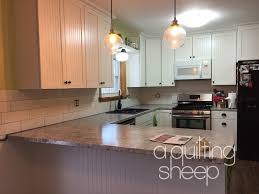Kitchen Looks A Quilting Sheep First Quilt Of 2017 And Kitchen Update