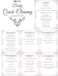 cleaning checklist daily quick cleaning checklist sheknows