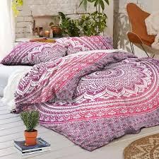 full size duvet cover. Pink Ombre Duvet Cover Set King Size Quilt Boho Comforter And Pillows Full