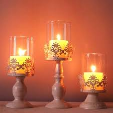 elegant candles candle holder cube stand candlestick metal base craft large glass wedding holders simple centerpieces