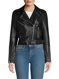 leather jacket saks off 5th