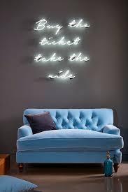 Why You Should Probably Buy a Velvet Sofa in 2017. Interior DesigningModern  Home Interior DesignModern InteriorsNeon Lights For BedroomNeon Sign ...