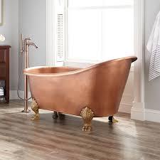 dunlap hammered copper slipper clawfoot tub bathroom