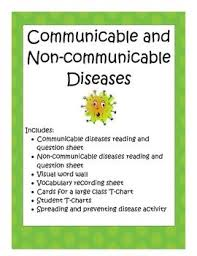 Communicable Diseases Chart With Pictures Diseases Communicable And Non Communicable Health Lesson