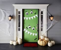 office halloween decorations. Monster Door Haunting Halloween Decorations The Glue String Office Decorating Ideas