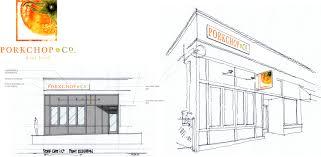 restaurant exterior drawing.  Drawing Porkchop U0026 Co Restaurant In Exterior Drawing