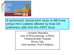 A randomized double blind study on MD knee versus HA in patients affected by knee OA preliminary data from the JOINT study